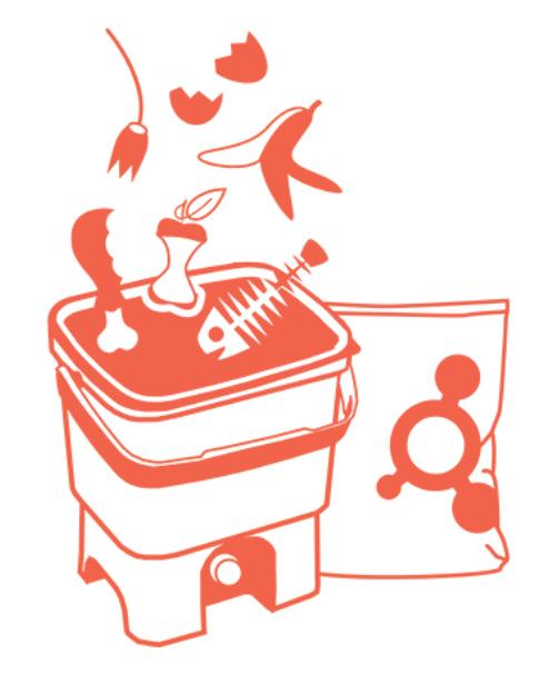 Ajioki - Composteur Bokashi - Compost pratiquement tous les déchets de cuisine